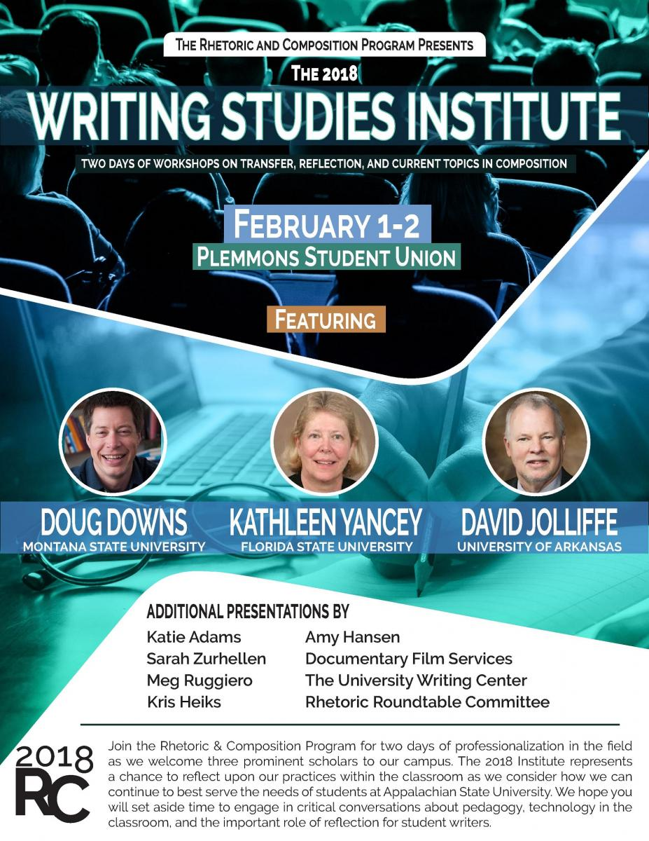 Writing Studies Institute Flyer